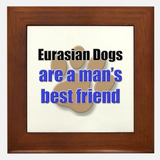 Eurasian Dogs man's best friend Framed Tile