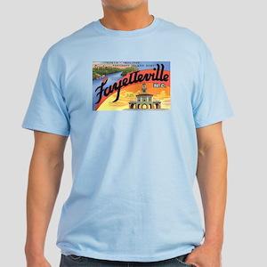 Fayetteville North Carolina Greetings Light T-Shir
