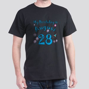 August 28th Birthday Dark T-Shirt