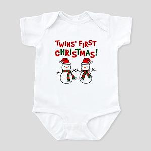 Twins' 1st Christmas - Snowman Infant Bodysuit