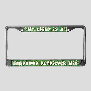 My Kid Labrador Retriever Mix License Plate Frame