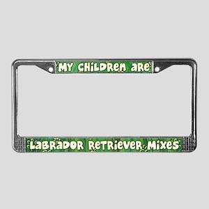 My Children Lab Mix License Plate Frame
