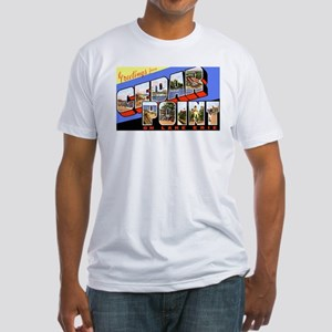 Cedar Point Ohio Greetings Fitted T-Shirt