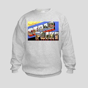Cedar Point Ohio Greetings Kids Sweatshirt
