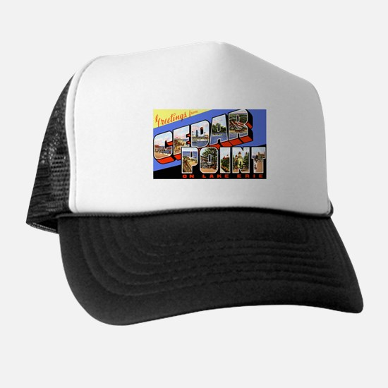 Cedar Point Ohio Greetings Trucker Hat