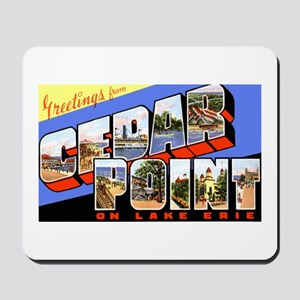 Cedar Point Ohio Greetings Mousepad