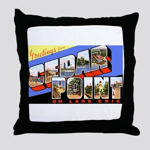 Cedar Point Ohio Greetings Throw Pillow