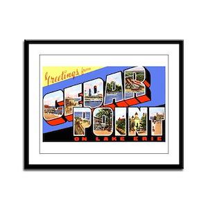 Cedar Point Ohio Greetings Framed Panel Print