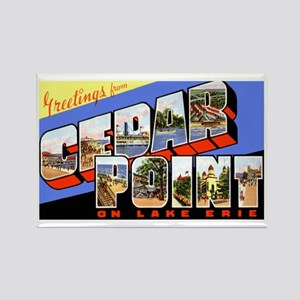 Cedar Point Ohio Greetings Rectangle Magnet