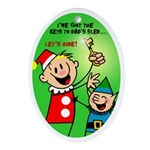 Andy Claus Comfort and Joy Ride Oval Ornament