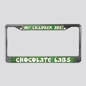 My Children Chocolate Lab License Plate Frame
