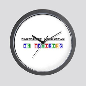 Corporate Librarian In Training Wall Clock