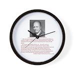 Still Liking Ike Wall Clock