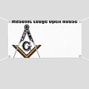 Masonic Lodge Open House Banner