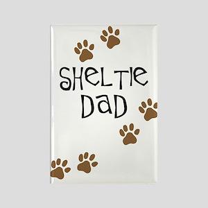 Sheltie Dad Rectangle Magnet