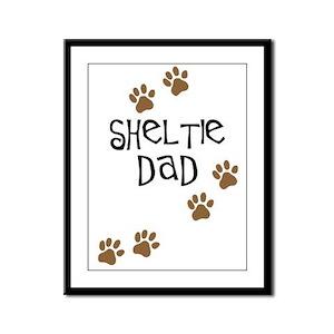 Sheltie Dad Framed Panel Print
