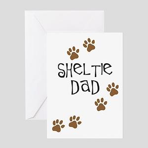 Sheltie Dad Greeting Card