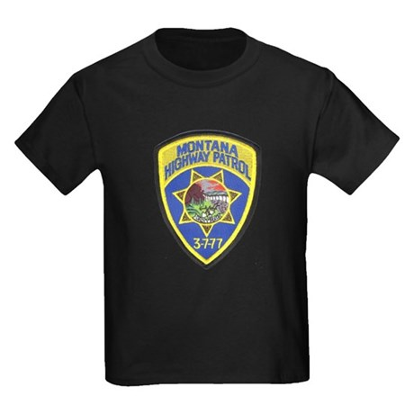 Montana Highway Patrol Kids Dark T-Shirt