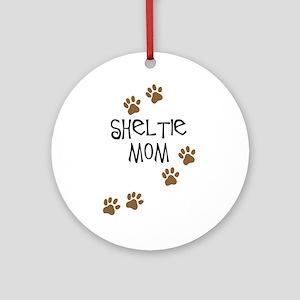 Sheltie Mom Ornament (Round)