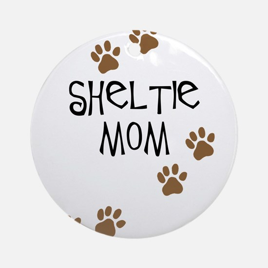 Sheltie Mom Ornament (Round)