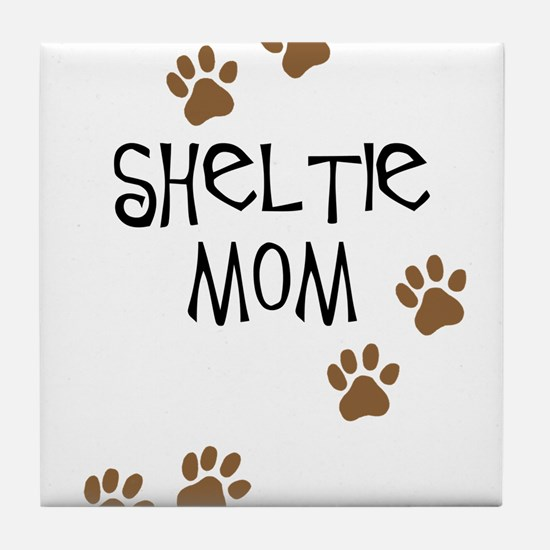 Sheltie Mom Tile Coaster