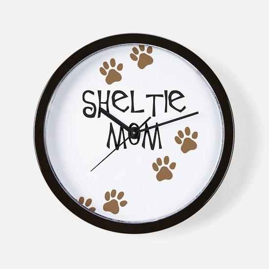 Sheltie Mom Wall Clock