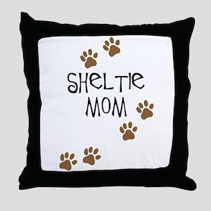Sheltie Mom Throw Pillow