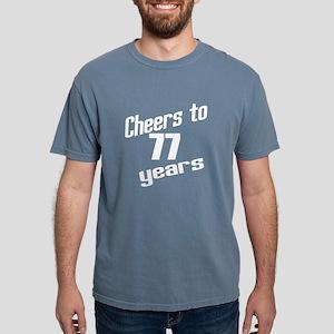 Cheers To 77 Years Women's Dark T-Shirt