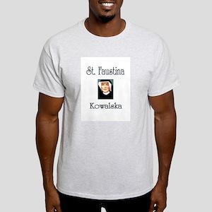 St. Faustina Kowalska White T-Shirt