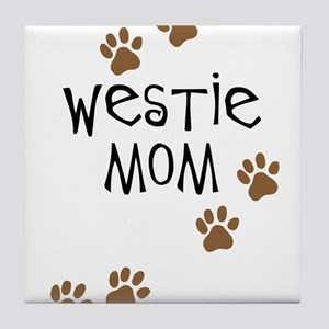 Westie Mom Tile Coaster