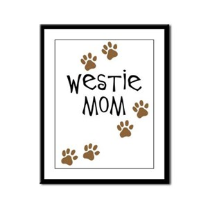 Westie Mom Framed Panel Print