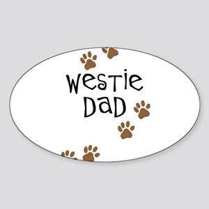 Westie Dad Oval Sticker