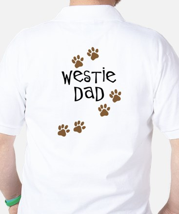 Westie Dad Golf Shirt