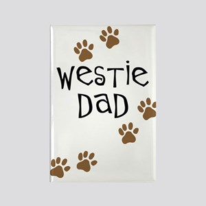 Westie Dad Rectangle Magnet