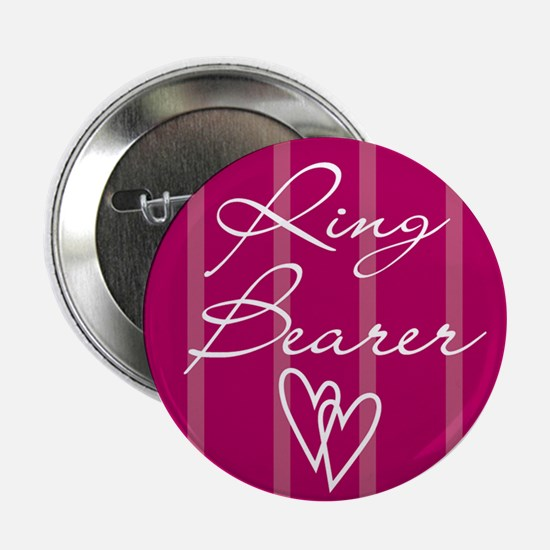 "Hearts Ring Bearer 2.25"" Button"