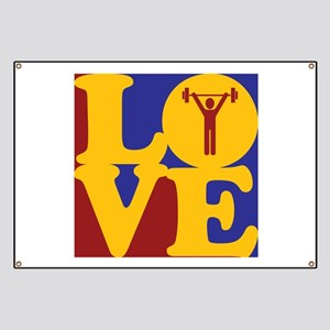 Weight Lifting Love Banner