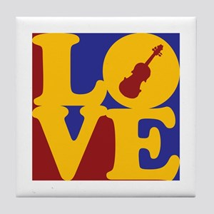 Violin Love Tile Coaster
