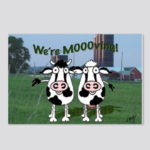 We're Moooving! Postcards (Package of 8)