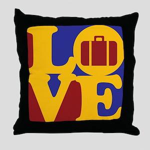 Travel Love Throw Pillow