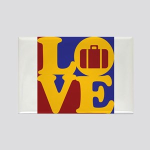 Travel Love Rectangle Magnet