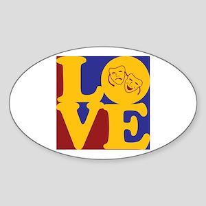 Theater Love Oval Sticker