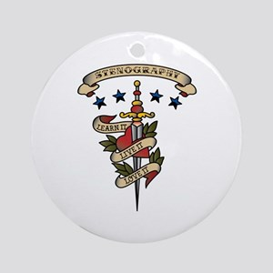Love Stenography Ornament (Round)