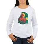 Adventurous Chestnut Women's Long Sleeve T-Shirt