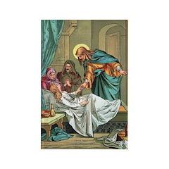 Jesus Healing Power Rectangle Magnet