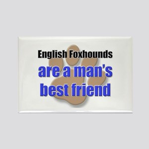 English Foxhounds man's best friend Rectangle Magn