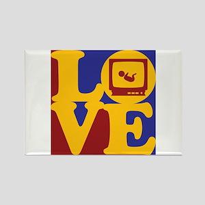 Sonograms Love Rectangle Magnet