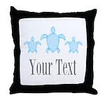 Sea Turtle Ocean Blue Name Throw Pillow