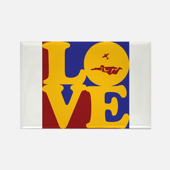 Skydiving Love Rectangle Magnet