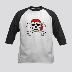 Funny Pirate Kids Baseball Jersey