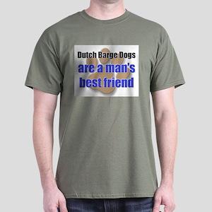 Dutch Barge Dogs man's best friend Dark T-Shirt